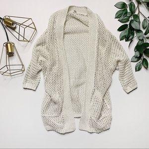 ecote ✨ open weave slouchy boho cardigan — sz. S